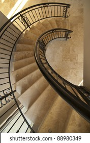 Main spiral staircase in a modern house