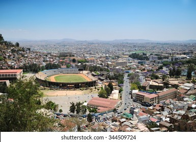 Main sports stadium of the city of Antananarivo Madagascar.