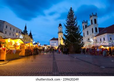 Main Square in Banska Bystrica, Slovakia.