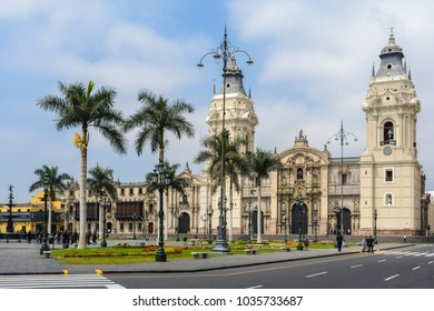 Main Square and Cathedral Church, Lima, Peru