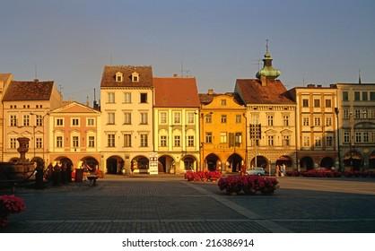 Main Square in Ceske Budejovice in Czech Republic