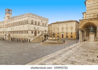 the main square in the city of perugia