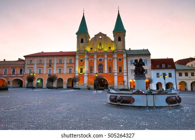 Main square in the city of Zilina in central Slovakia.
