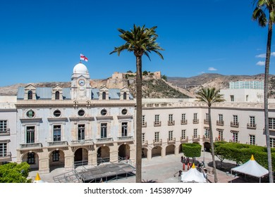 Main square in the historical town of Almeria, Andalusia, Spain
