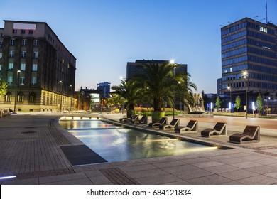 Main Square in Katowice. Katowice, Slaskie, Poland.