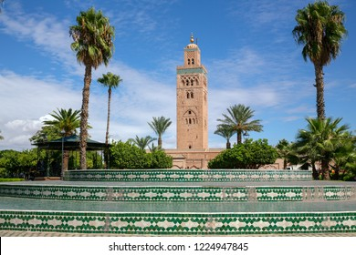 Main square at  mosque in Marakesh morocco