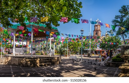 Main square and Our Lady of Guadalupe church - Puerto Vallarta, Jalisco, Mexico