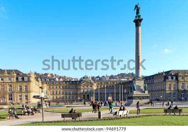 Main square in Stuttgart (Germany) city center