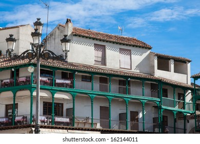 Main square, Touristic village in Madrid province, Chinchon, Spain