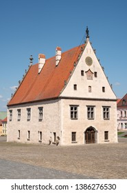 Main square with town hall in Bardejov, Slovakia