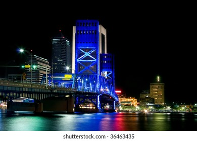 Main Street Bridge in Jacksonville Florida at Night