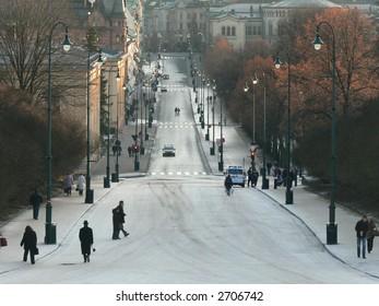 Main street in Oslo
