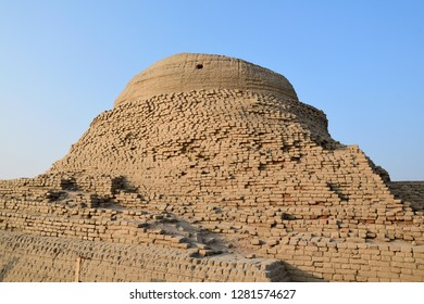 the main  of stupa of Mohenjo daro , one of world heritage site UNESCO in Sindh , Pakistan