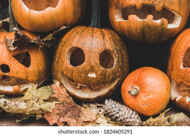 The main symbol of the holiday Happy Halloween. Orange pumpkin with a smile for your design for the holiday Halloween.