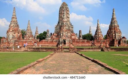 Main temple at ancient capital of Thailand Ayutthaya