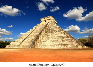 Main temple of Chichen Itza. Chichen Itza was a large pre-Columbian city built by the Maya people of the Terminal Classic period. The archaeological site is located in Yucatan, Mexico