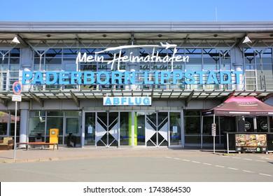 Main terminal of the Airport Paderborn-Lippstadt, Westphalia, Germany, 05-28-2020