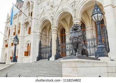 the main tourist attraction in Budapest and all of Hungary - the great Gothic architecture of the Parliament building, travel and sightseeing concept