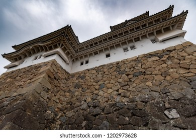Main tower of the Himeji Castle, also called the white Heron castle, Japan. This is a UNESCO world heritage site.