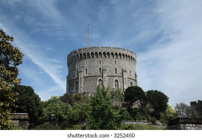 the main tower of Windsor Castle England 800 years old