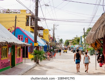 The main town of Isla Holbox, Mexico on Thursday, May 10, 2018.