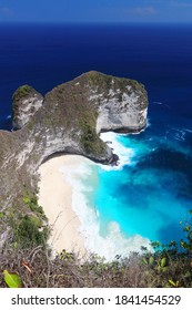 Main view of Kelingking beach, on of the most amazing spots in Nusa Penida Island, Bali, Indonesia.