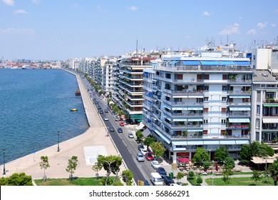 Main view on Thessaloniki, Greece