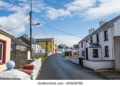 Main village road of the small irish island town of tory island