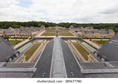 MAINCY, FANCE - June 11, 2015 : Vaux le Vicomte view from bell tower