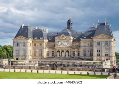 MAINCY, FRANCE -1 JULY 2016- Opened in 1661, the Chateau de Vaux-le-Vicomte castle belonged to Nicolas Fouquet, the Superintendent of Finances of French King Louis XIV. It influenced Versailles.