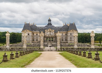 MAINCY, FRANCE - June 17, 2018:The Château le Vaux-le-Vicomte is a baroque French Château located in Maincy, France