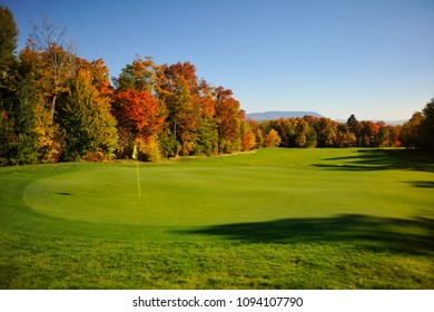 Maine Fall Foliage Golf Lake