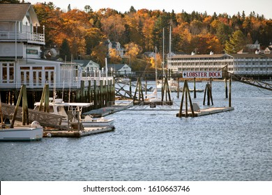 Maine, New England, USA: Oct 2014; Small coastal town in Maine, New England