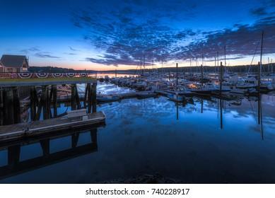Maine Sunrise Harbor - twilight sky