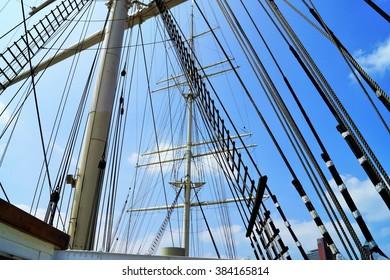 Mainmast of a sailing ship