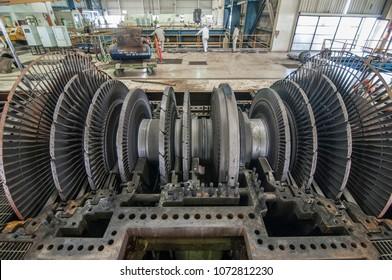 Maintenance for Power electric rotor turbine for 110 Mega Watts generator