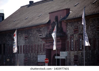 MAINZ, GERMANY - APRIL 07: The entrance of the historic museum Castellum a local history museum on 07 April 2019 in Mainz.