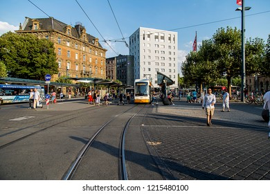 Mainz, Germany. August 3, 2018. Mainz is a beutiful and quiet city in Germany.