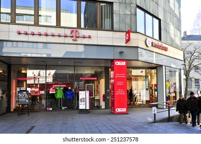 MAINZ, GERMANY - FEB 07: VODAFONE store on February 07, 2015 in Mainz, Germany. As of 2011 Vodafone Germany had 36.6 million mobile customers.