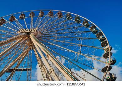 """Mainz, Germany - June 22, 2018: Ferris wheel """"Juwel"""" on the famous public festival """"Mainzer Johannisnacht"""""""