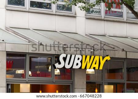 Mainz Germany June 12 2017 Subway Restaurant Stock Photo (Edit Now)  667048228 - Shutterstock 9f142f3f5