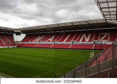 Mainz, Germany - Nov. 11, 2018: Stadium of football/soccer club '1. FSV Mainz 05' currently playing in the first national league in Germany