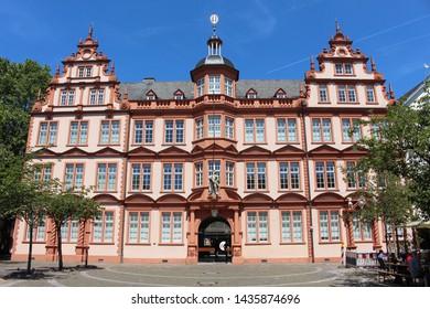 Mainz, Hessen/Germany - June 09th 2019: Förderverein Gutenberg e.V. - Gutenberg asotiation in Mainz