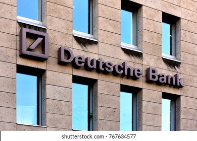 MAINZ,GERMANY- NOVEMBER 22,2017:DEUTSCHE Bank.Deutsche Bank AG is a German global banking and financial services company with its headquarters in Frankfurt.
