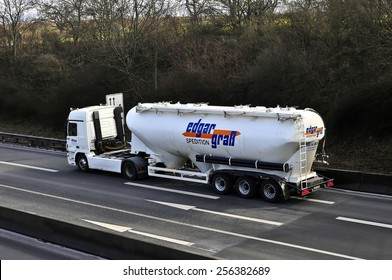 MAINZ,GERMANY-FEB 020: oil truck on the highway on February 20,2015 in Mainz,Germany.