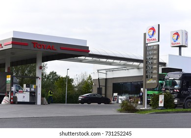 MAINZ,GERMANY-OCT 09:TOTAL fuel and gas station on October 09,2017 in Mainz,Germany.