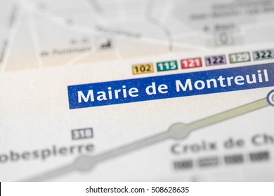 Mairie de Montreuil Station. 9th Line. Paris. France