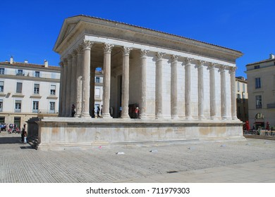Maison carrée in Nimes, France