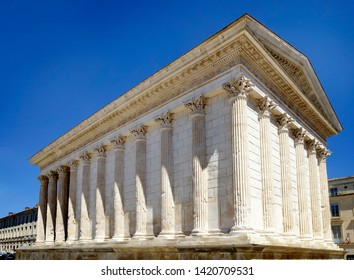 The Maison Carré (Square House), Nimes, Gard, France without people
