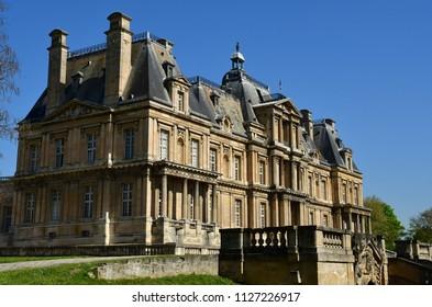 Maisons Laffitte; France - april 20 2018 : the classical castle